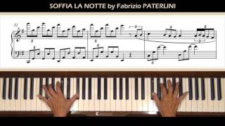 Soffia la Notte by Fabrizio Paterlini Piano Tutorial