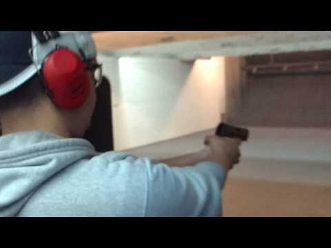 Mr Ray shoots the baby HK 45 Caliber Handgun Action BEAUTIFUL