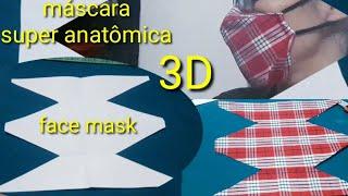 Novo Modelo de Mascara 3D Super Anatômica – Costurada a Mão