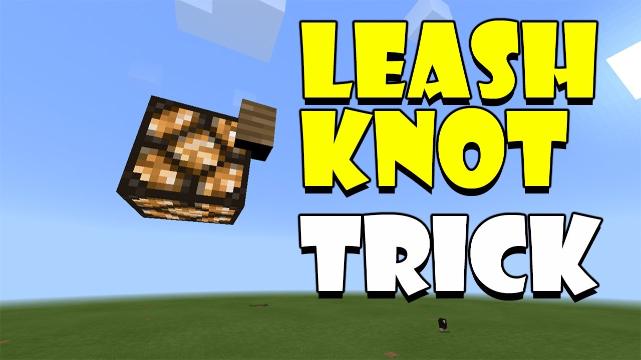 how to get a leash in minecraft pe