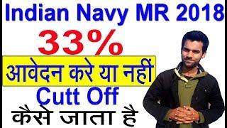 MR 10th Pass Indian Navy 2018 कितने प्रतिशत वाला करे आवेदन  & Cutt off Strategy