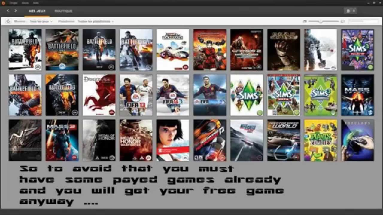 May 08,  · Get the current free PC game at Origin. EA's Origin game store client might be a little desperate for users. Visit their ongoing promotions and download the free Origin software. Check back regularly to see which games are up for grabs, as these rotate frequently: The