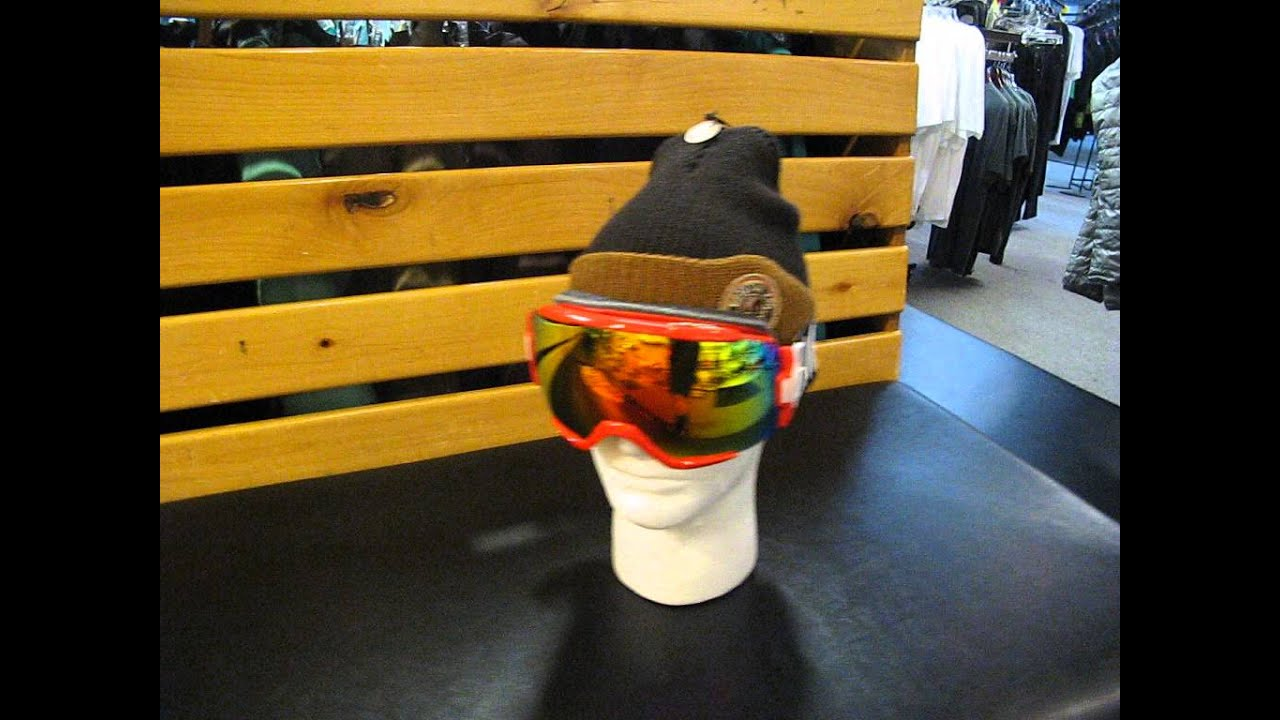 2014 smith vice goggle in fire block with red sol x lens