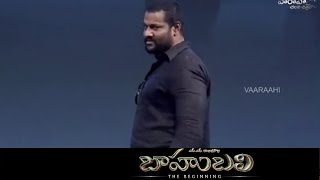 Prabhakar Speaks Kilikili Language @ Baahubali Audio Launch - Prabhas, SS Rajamouli
