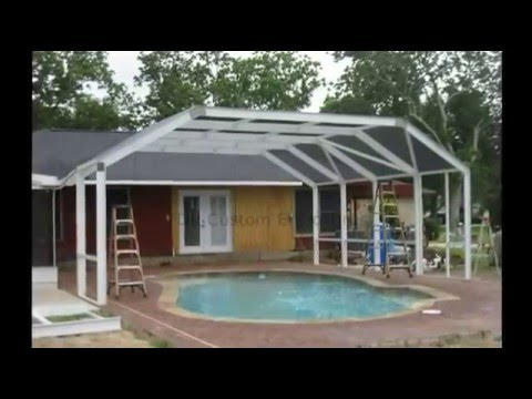 FDR Custom Enclosures presents - How to Build a Pool Cage using White Aluminum Beams