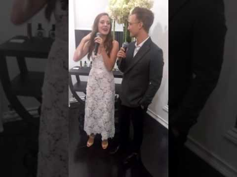 Laura Osnes sings Aladdin's,' A whole new world,' with husband, Nathan Johnson! mp3