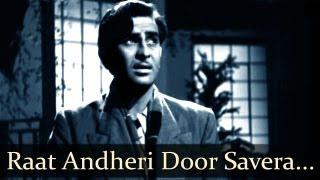 Aah - Raat Andheri - Raj Kapoor - Nargis - Bollywood Sad Songs - Lata Mangeshkar - Mukesh