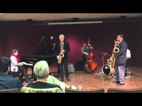 Bob Mintzer Master Class at El Camino College; Tyler Johnson, Baritone Sax