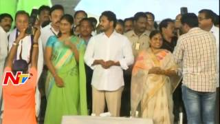 YS Sharmila and Vijayamma Grand Entry @ YSRCP Plenary Meeting 2017 || NTV