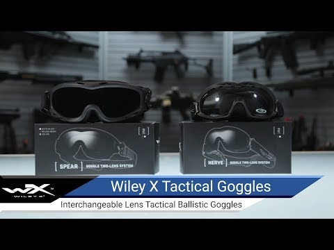 130f1ddddafc Wiley X Nerve Tactical Goggle (Color: Smoke Grey and Clear lens with Matte  Black Frame), Tactical Gear/Apparel, Head Gear, Head - Goggles - Evike.com  ...