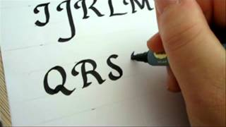 How To Draw Letters Alphabets with Calligraphy Pen  Decorative - Fancy Alphabets