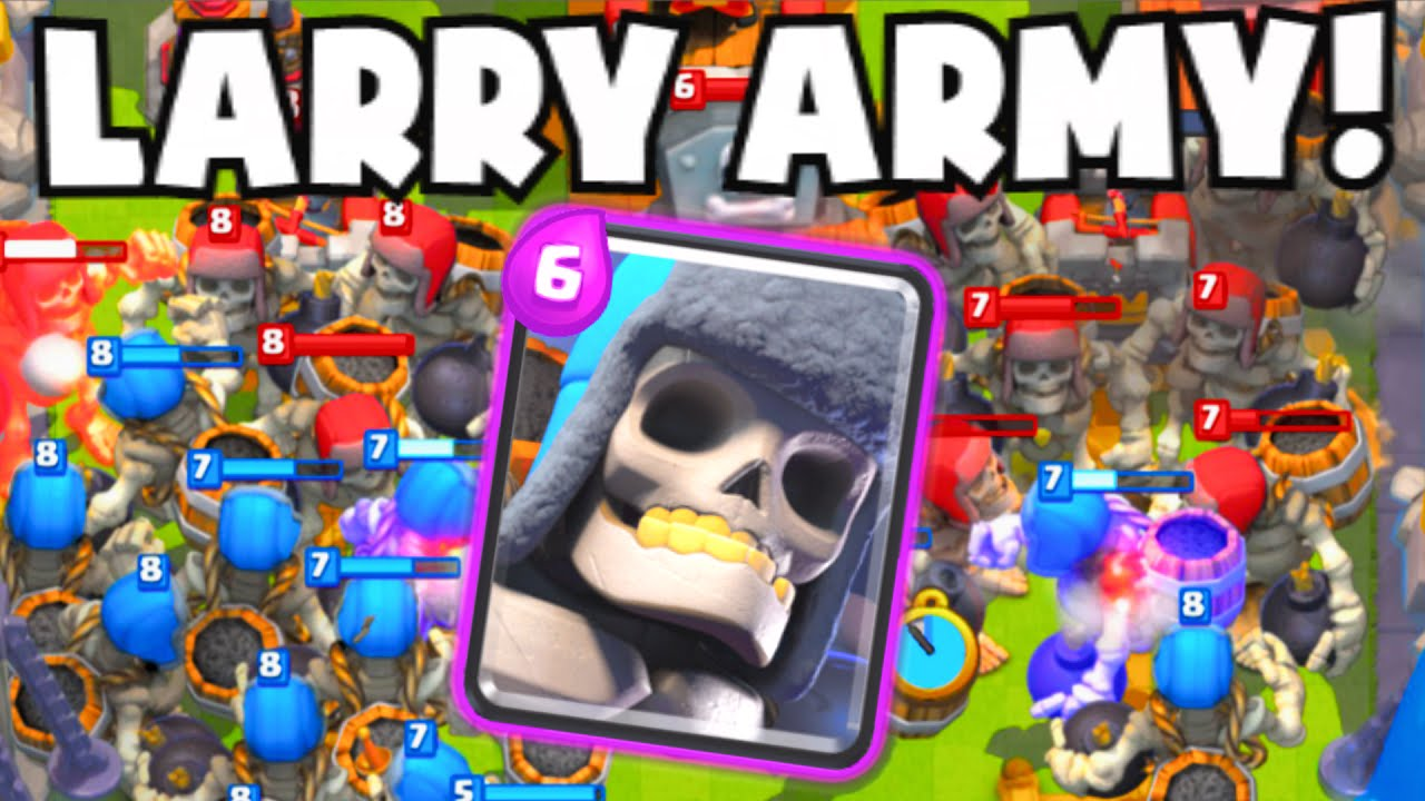 "Clash Royale 25+ GIANT SKELETON ARMY | NEW ""Giant Tombstone"" X-Bow ..."
