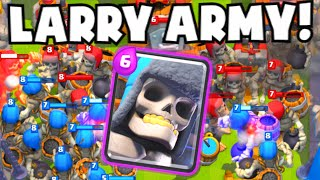 "Clash Royale 25+ GIANT SKELETON ARMY | NEW ""Giant Tombstone"" X-Bow Mortar Cards Update Gameplay"