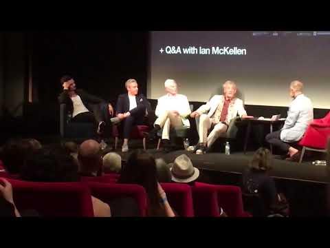 A little bit of the QA with @IanMcKellen, Martin Freeman, Derek Jacobi, Orlando Bloom and @gr