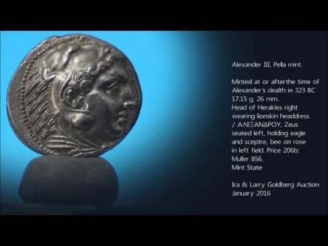 """323-317 BC Ancient silver tetradrachm coin of Alexander III """"The Great"""" NGC Choice AU"""