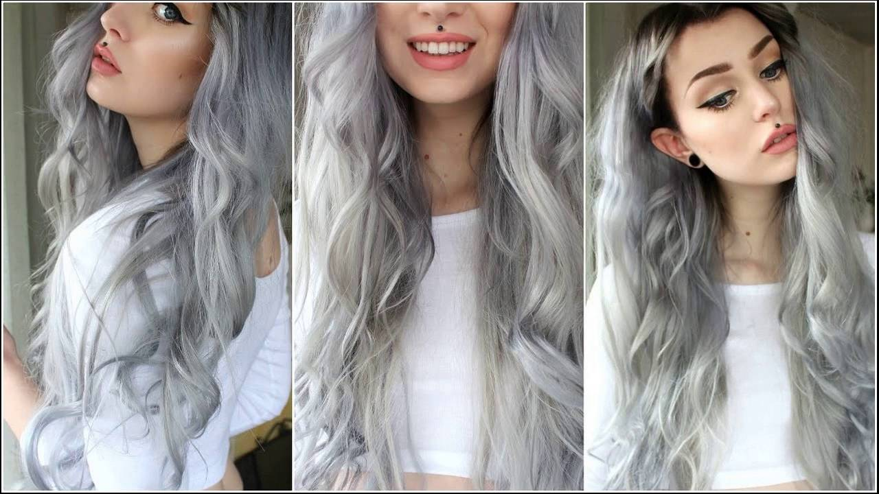 How To Get Silver Hair Without Bleach At Home Naturally Youtube