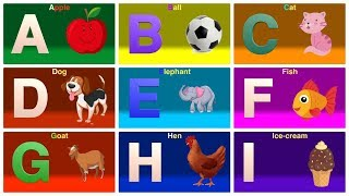 A for Apple B for Ball C for Cat | ABC Phonics Song with Two Words | ABC Alphabet Songs