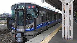 【521系】JR北陸線 丸岡駅に普通列車到着