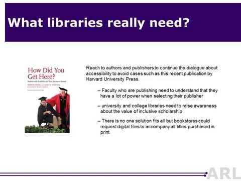 Working Together: Research Libraries and Publishers on the Value of Inclusive Learning Resources