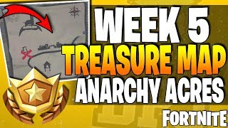 Fortnite Battle Royale - Follow The Treasure Map Found In Anarchy Acres Guide! Week 5 Hard Challenge