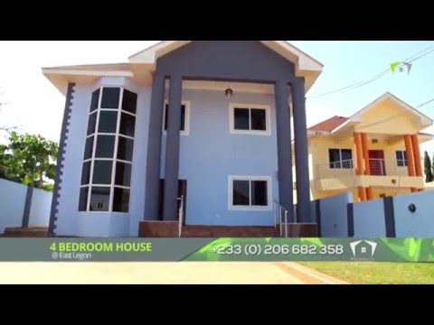 East Legon 4 BEDROOMS HOUSE with a very large compound