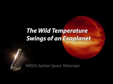 The Wild Temperature Swings of an Exoplanet