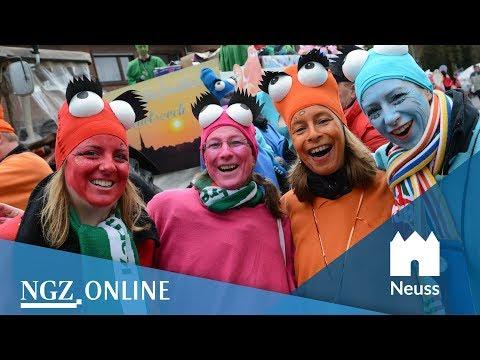 Jeckes Treiben trotz Hagelschauer: Das war der Kappessonntagszug 2018 in Neuss