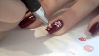 Уроки маникюра рисунки +на ногтях +для начинающих