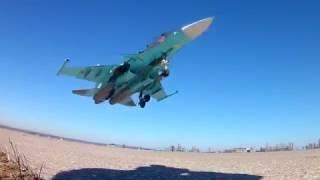 Выполнение практического бомбометания экипажами Су-34 Западного военного округа