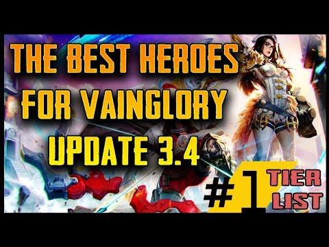 META HEROES FOR VAINGLORY UPDATE 3.4   Best Vainglory Heroes In Every Role! [VGPRO.GG]