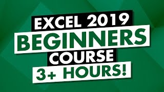Microsoft Excel Tutorial: 3-Hour MS Excel 2019 Course For Beginners!