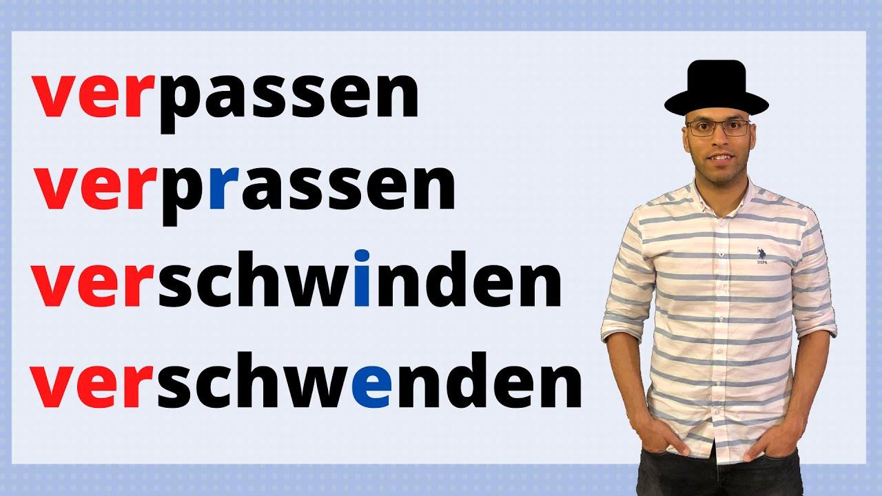 Verben mit der Vorsilbe Ver - أفعال هامة في اللغة الألمانية