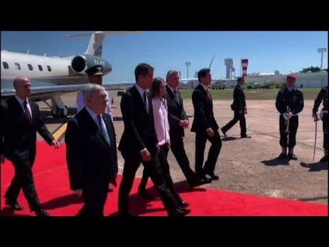 Venezuela's Guaido arrives in Paraguay