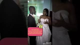 Ada Ekwulobia and her Davido pledge their marital vows..