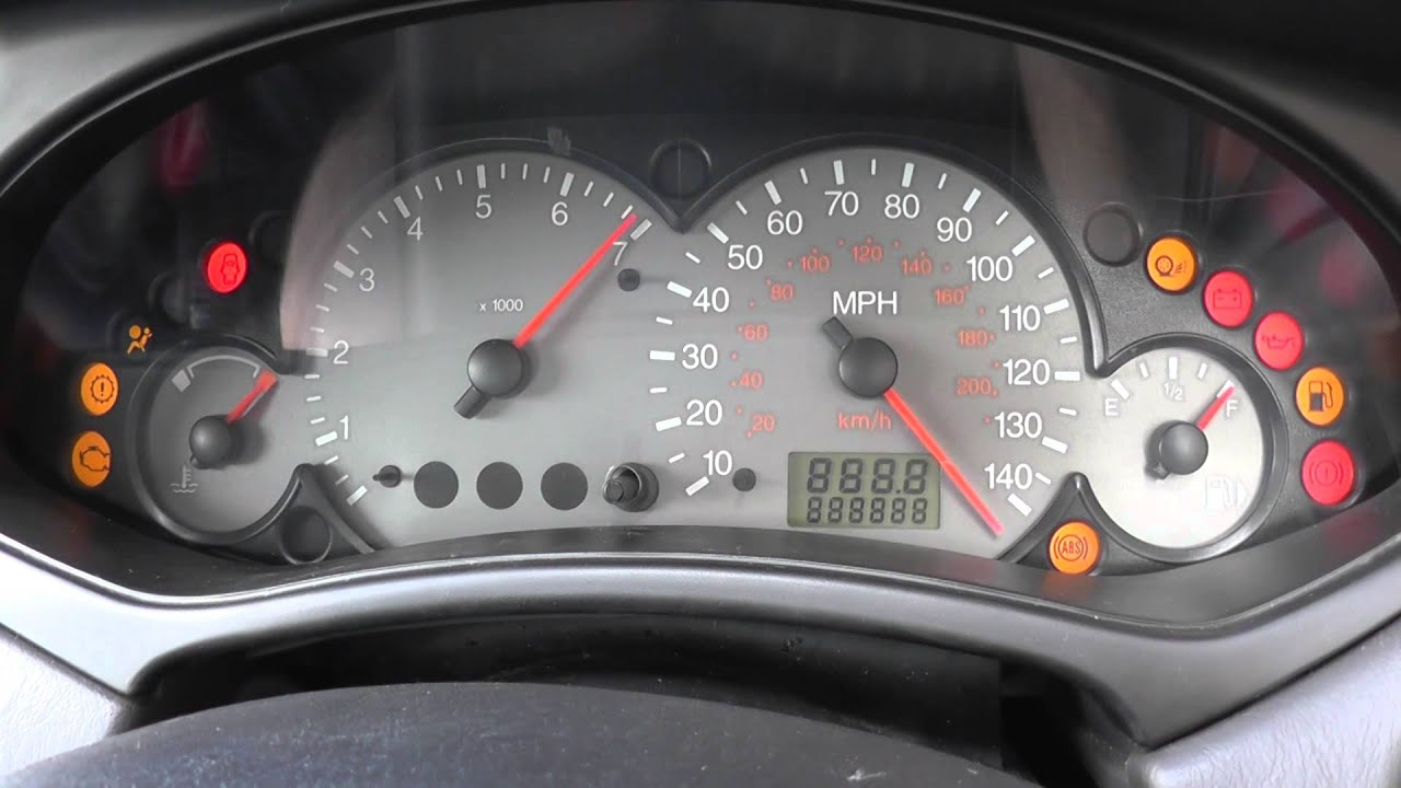 Ford Focus 2002 Startup Dash Warning Lights Youtube