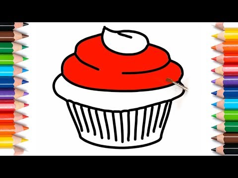 How To Draw A Cupcake Step By Step For Beginners  Drawing