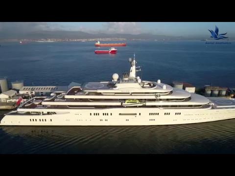 (Drone) Gibraltar: Eclipse Super Yacht