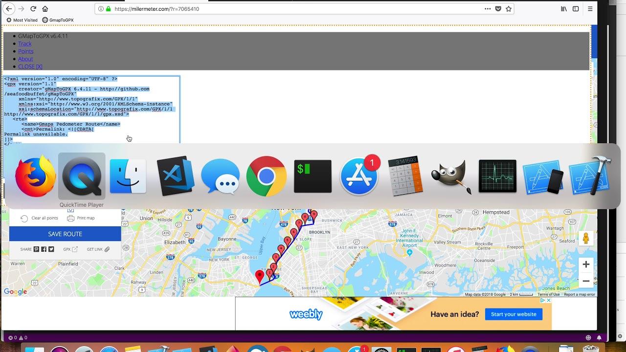 GmapToGPX bookmarklet |