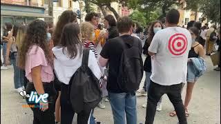 Doppi turni al De Sanctis: lo sciopero degli studenti