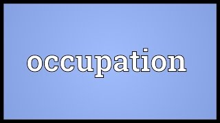 Occupation Meaning