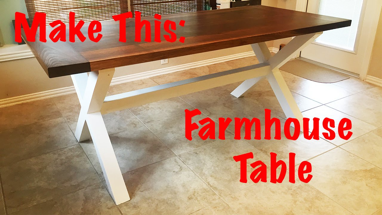 making a farmhouse table Make This: Farmhouse Table   YouTube making a farmhouse table