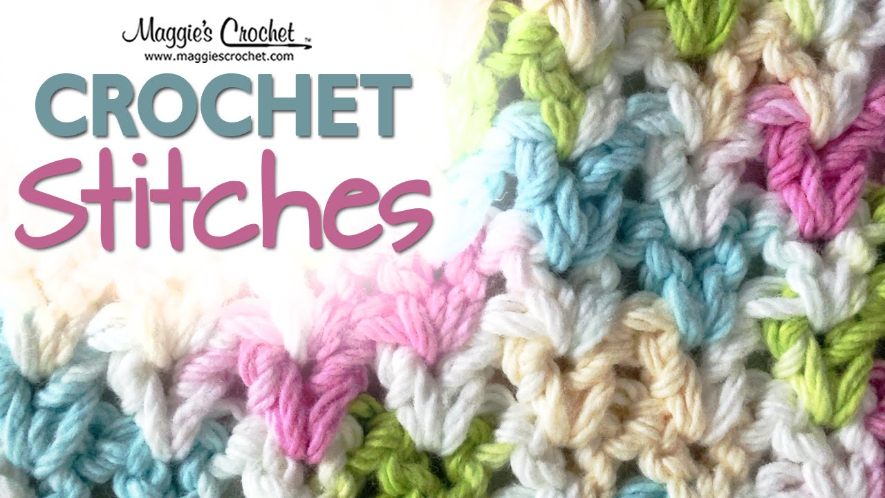 Stitch Repeat V Stitch Free Crochet Pattern Left Handed Youtube