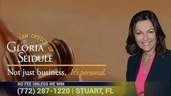 Accidents Happen. Get Compensation. Personal Injury Lawyer Gloria Seidule | Stuart FL 34994
