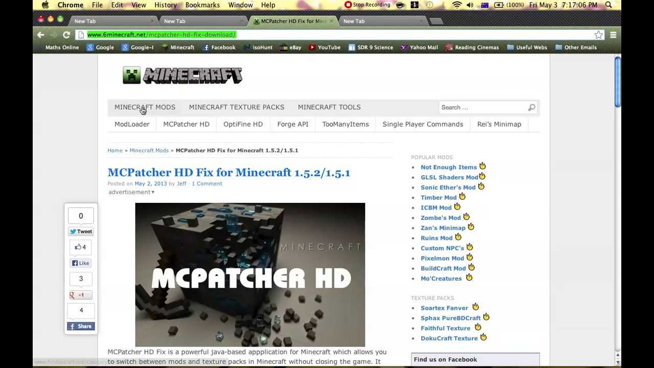 minecraft mc patcher 1.5.2