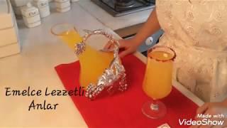 Portakallı limonata. Serinletici, ev yapımı ve tam kivaminda. Anne eli değmiş gibi.