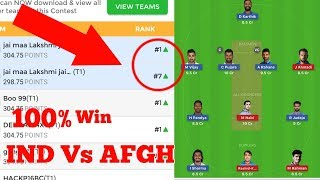 IND vs AFGH 1st Test Match Dream 11 Team & Playing 11| Team Preview (India vs Afghanistan)