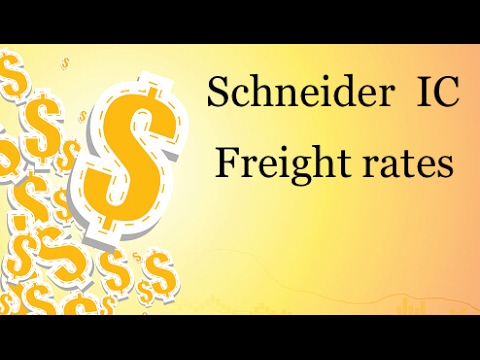 Schneider IC freight rates overview