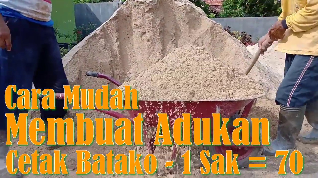 Cara Membuat Adukan Untuk Cetak Batako 1 Sak Semen Jadi 74 Making Cement Bricks Youtube