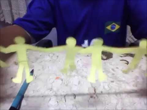 Bonecos De Papel De Maos Dadas Youtube