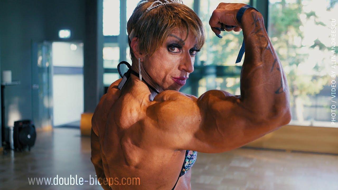 Virginia Sanchez winning the Romania Muscle Fest